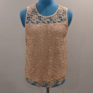 Nanette Lepore Lace Scoop Neck Tank Top